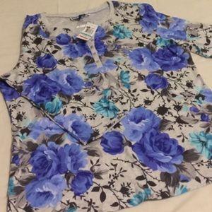 Floral Top 🌹Karen Scott. Size OX